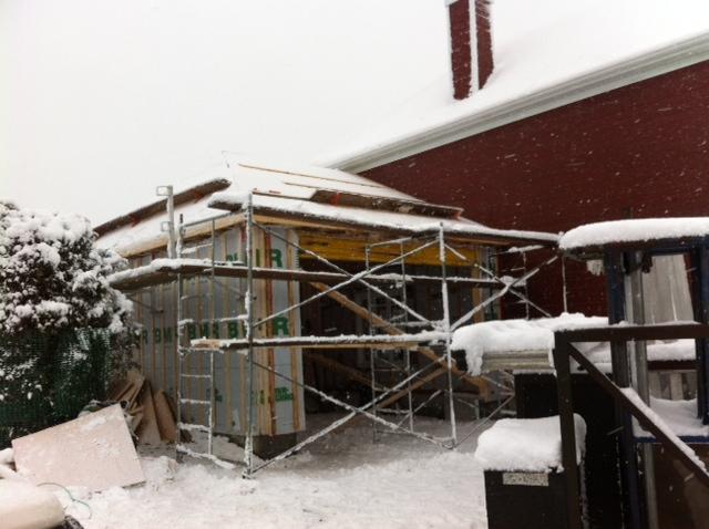 Ajout de garage une maison qu bec par constructions for Ajout de garage maison