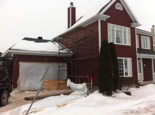 Ajout de garage une maison qu bec par constructions for Ajout garage maison