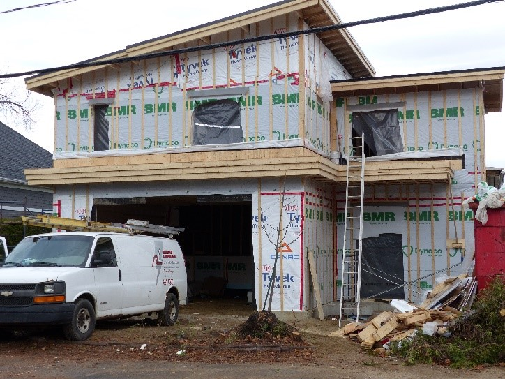 agrandissement maison avec levage maison et ajout garage