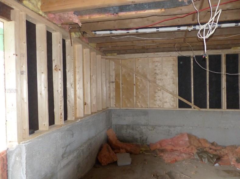 agrandissement sous-sol avec levage de maison
