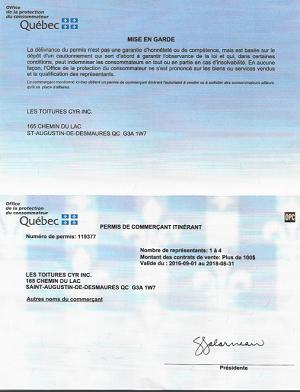 permis office protection du consommateur constructions cyr