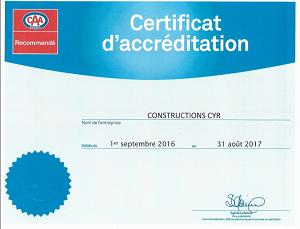 recommande caa constructions cyr