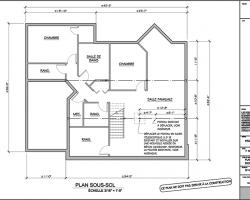 1 plan agrandissement de maison sous sol