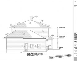 5 plan agrandissement de maison elevation gauche