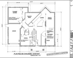 plan d'agrandissement de maison