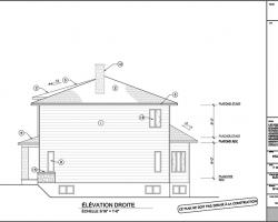 7 plan agrandissement de maison elevation droite