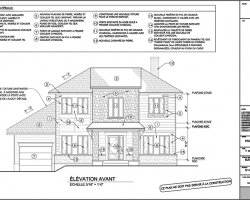 4 plan agrandissement de maison elevation avant