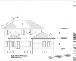 6 plan agrandissement de maison elevation arriere